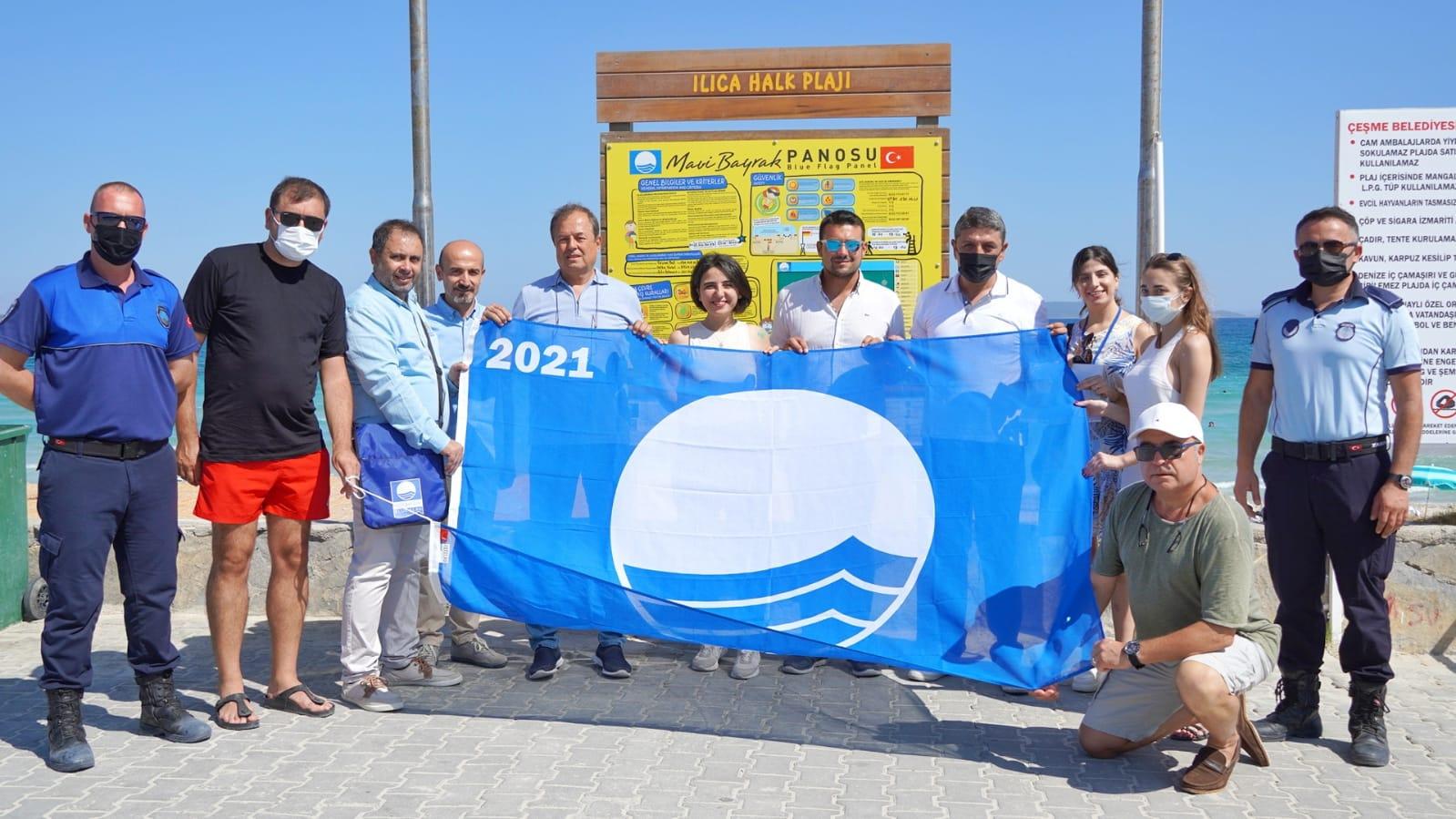 Ilıca Plajı'nda ikinci Mavi Bayrak gururu!